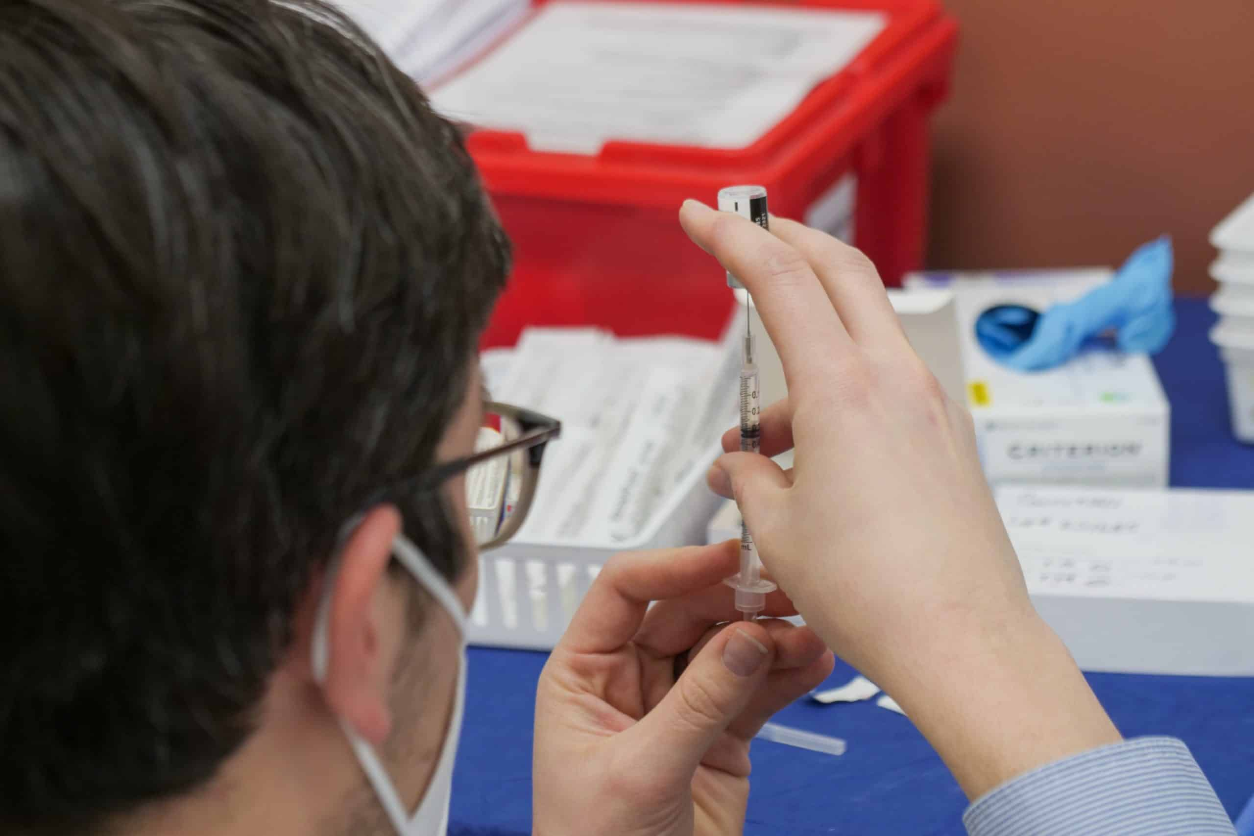Vaccine being prepared